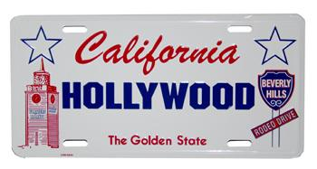 Hollywood License Plate