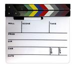 White Director's Clapboard with Color Sticks