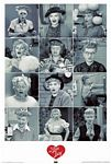 I Love Lucy Faces poster