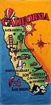 California Map Beach Towel