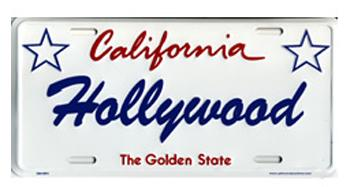 Hollywood California Signature License Plate