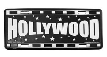 Hollywood Stars License Plate