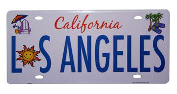 Los Angeles 'Beach Fun' License Plates