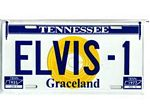 Elvis Gold Record License Plates