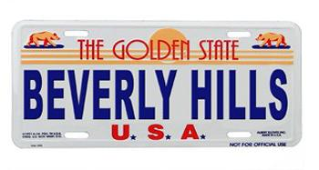 Beverly Hills License Plates