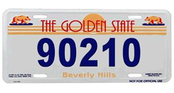 Beverly Hills License Plate