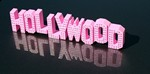 Pink Hollywood Sign with rhinestones