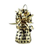 Gold And black stars Balloon Weight / Holder