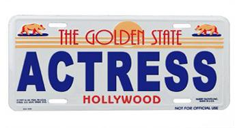 Actress License Plate