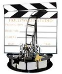Hollywood 3-D Clapboard & Reel Centerpiece