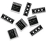 Movie Clapboard & Film Strip Confetti