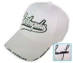 White Los Angeles Script Cap