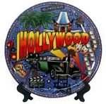 Hollywood Porcelain Plate
