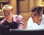 Brad Pitt & George Clooney Movie Still