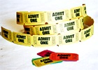 Admit One Tickets Yellow (Roll of 25)