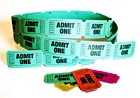 Admit One Tickets Green (Roll of 65)