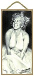 Marylin Monroe Wood Plaque