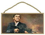Scarface Wood Plaque