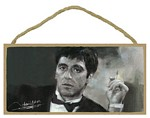 Scarface with cigarette Wood Plaque