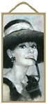 Audrey Hepburn Wood Plaque