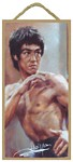 Bruce Lee Wood Plaque