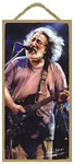 Jerry Garcia (Singing) Wood Plaque