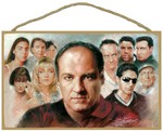 The Sopranos (characters) Wood Plaque