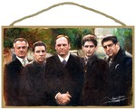 The Sopranos (5 Mob Bosses) Wood Plaque