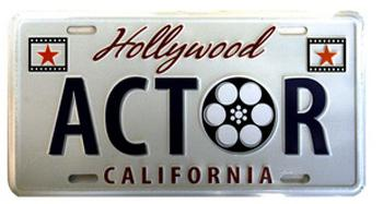 Actor license plate