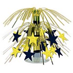 Mini Cascading Stars Centerpiece - Gold & Black