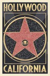Hollywood Walk of Fame Star Wood Plaque
