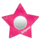 Plush Star Mirror -Pink