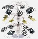Hollywood Movie camera, Reels, Stars Cascade Centerpiece