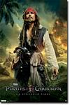 Jack Sparrow of Pirates of the Caribbean Movie Poster