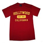 Hollywood In Crimson With Hollywood T-shirt