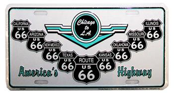 Route 66 License Plate