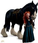 Merida and Angus from Disney Pixar Brave Lifesize cardboard Cuto