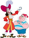 Captain Hook and Mr Smee cardboard Cutout #1209
