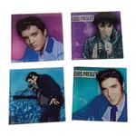 Elvis Presley 4 pc. Glass Coaster Set