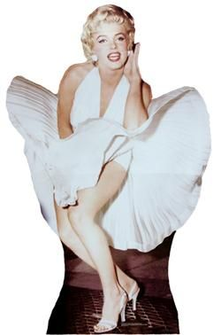 "Marilyn Monroe, ""The Seven Year Itch"" cutout - Click Image to Close"