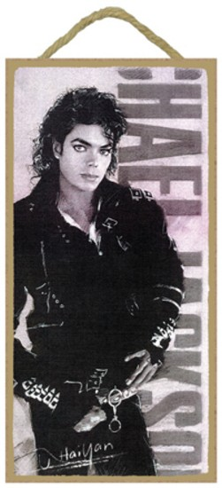 Michael Jackson Wood Plaque - Click Image to Close