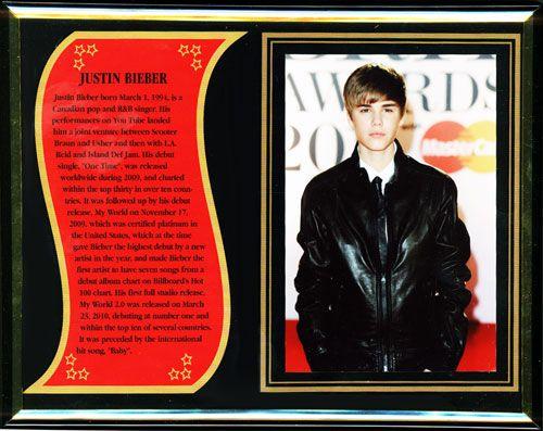 Justin Bieber Commemorative