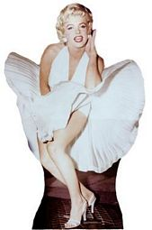 "Marilyn Monroe, ""The Seven Year Itch"" cutout"