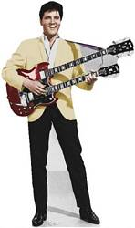 Elvis Presley with Gibson Guitar Lifesize cardboard cutout #845